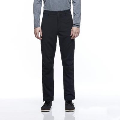 【HAKERS 哈克士】男款 防潑水彈性長褲(煤黑色)
