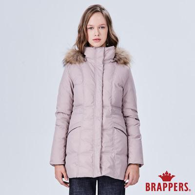 BRAPPERS 女款 長版羽絨外套-芋卡