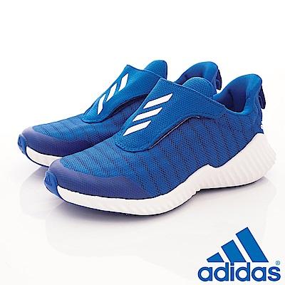 adidas童鞋 輕量運動鞋 MEI490藍(中大童段)