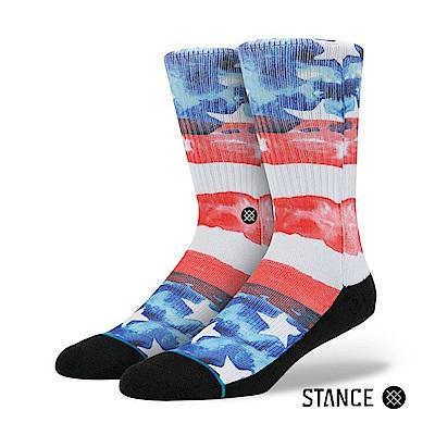 STANCE U.S.A-男襪-油畫風格美國國旗設計款