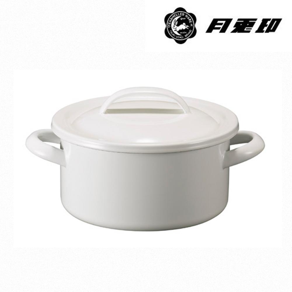 JIA Inc. 品家家品 月兔印-琺瑯燉煮鍋 19cm 2.7L-白色