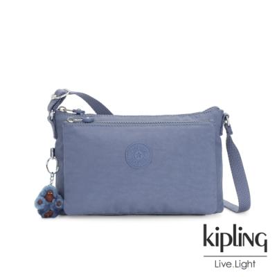 Kipling 氣質粉嫩藍雙內袋斜背小包-MIKAELA