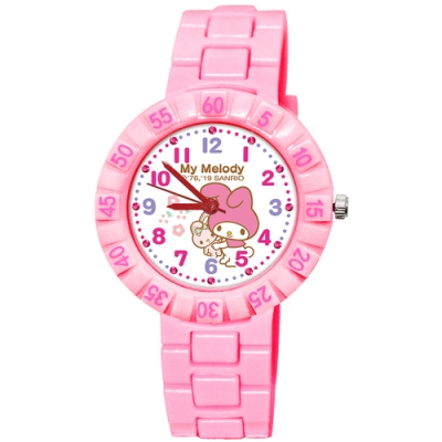 Sanrio三麗鷗 數字轉圈系列手錶 My Melody美樂蒂34mm粉紅色