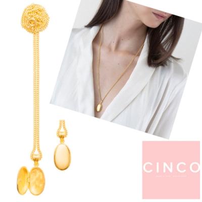 葡萄牙精品 CINCO Florence necklace 24K金相本項鍊