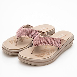 SKECHERS (女) 時尚休閒系列UPGRADES 拖鞋-41055RSGD