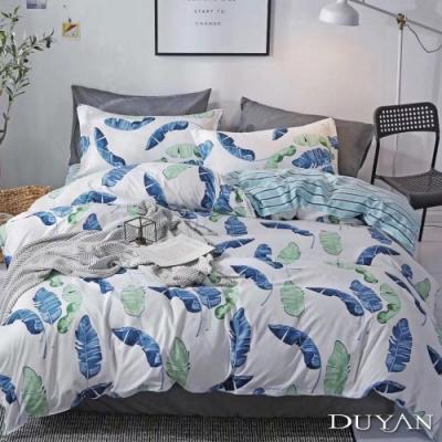 DUYAN竹漾 MIT 天絲絨-雙人床包被套四件組-野趣芭蕉