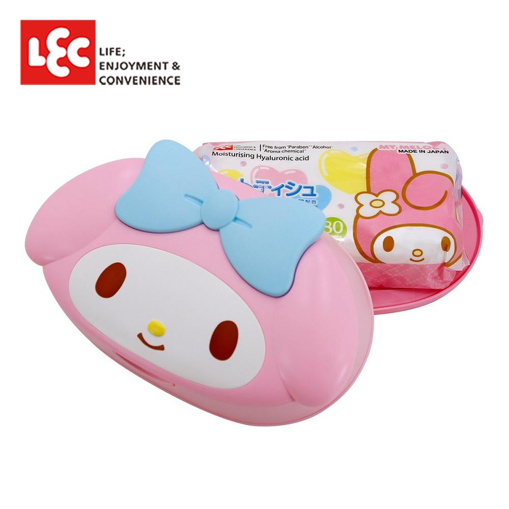 日本LEC My Melody美樂蒂純水99.9%盒裝濕紙巾 80抽/盒