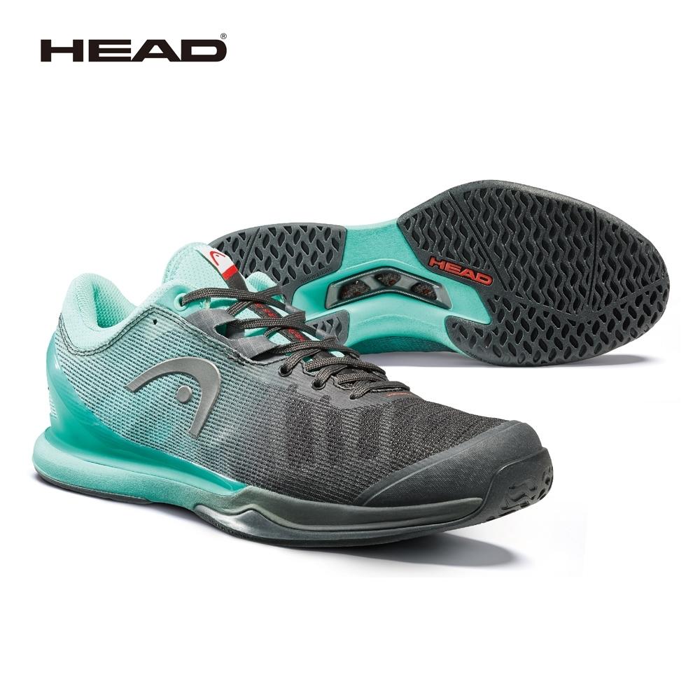 HEAD奧地利 SPRINT PRO 3.0 網球鞋-黑/藍綠 273040