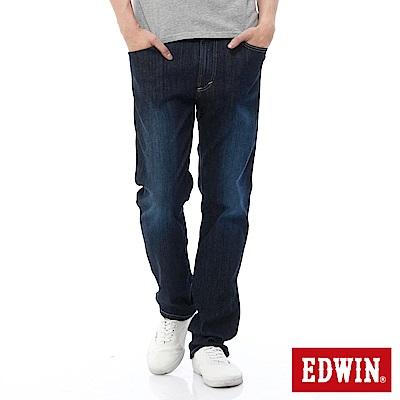 EDWIN 中直筒 503FLEX牛仔褲-男-酵洗藍