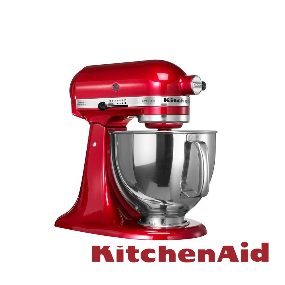 KitchenAid 抬頭式桌上型攪拌機 4.8L -熱情紅 來自美國的百年品牌 原裝進口主機5年保固