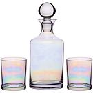 《KitchenCraft》質感玻璃酒瓶+威士忌杯2入(炫彩)