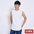 EDWIN 長版LOGO簡約背心-男-白色