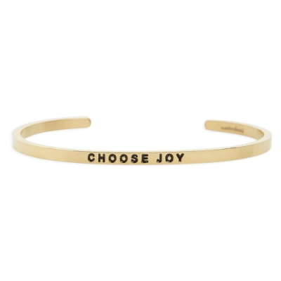 MANTRABAND Choose Joy 悄悄話金色手環
