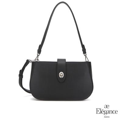 【Elegance】EUDORA 轉鎖小側背包-黑色