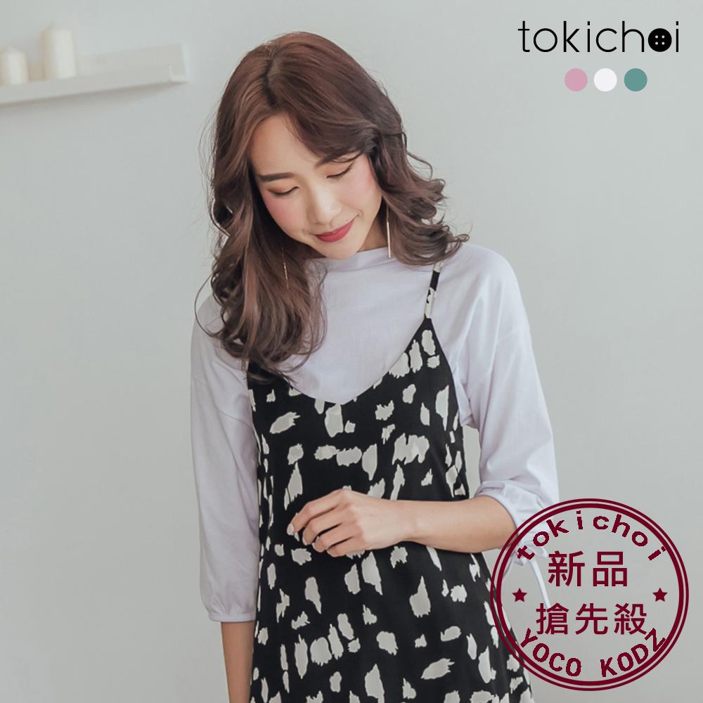 東京著衣-品牌嚴選舒適多色圓領袖口綁帶上衣-S.M.L(共三色)