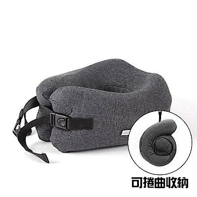 [時時樂限定]JIDA 專利設計 可捲收納記憶棉U型枕