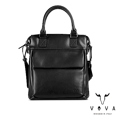 VOVA 公爵系列職人手提/斜背兩用包-貴族黑