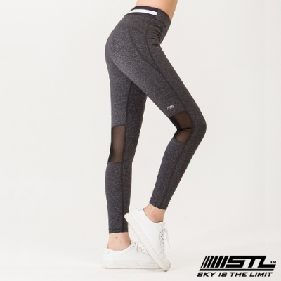 STL yoga legging annaband 9分 韓國瑜珈 中低腰 運動訓練 拉提塑身緊身壓力褲 安娜氣質灰