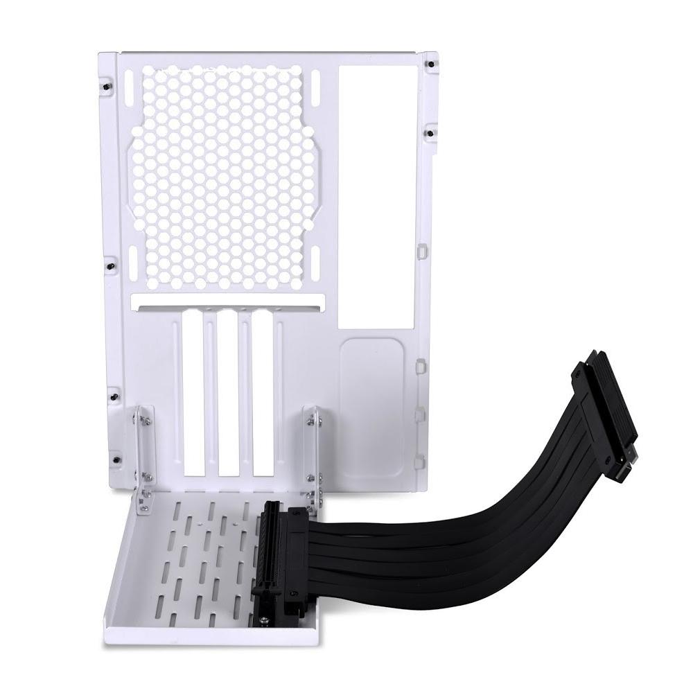 LIAN LI 聯力 O11D MINI PCIe 3.0 直立顯卡支架套件-白 – O11DM-1W 3.0