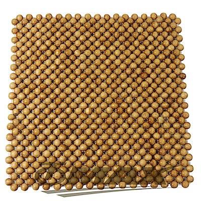 OMAX天然檜木香圓珠坐墊-1入