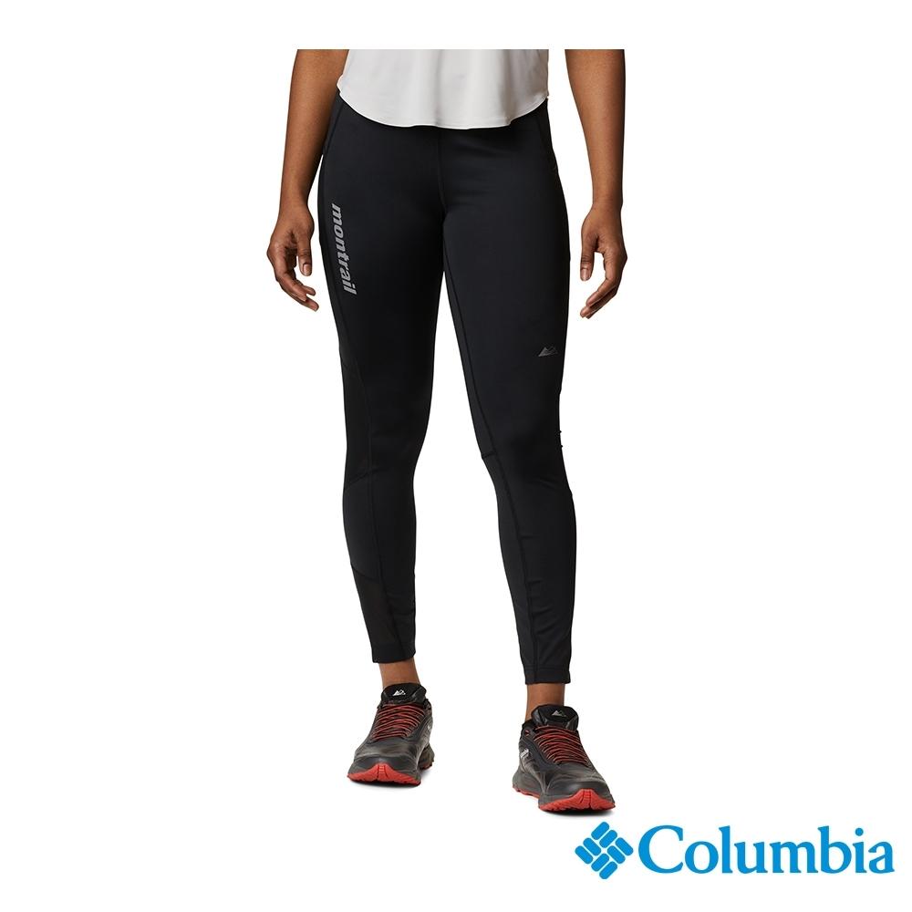 Columbia 哥倫比亞 女款- 野跑 快排防曬50跑褲-黑色 UAR239100