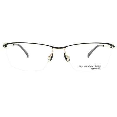 Masaki Matsushima 光學眼鏡 撞色流線半框款/金-霧黑 #MFT5050 C4