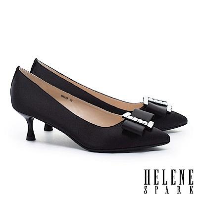 高跟鞋 HELENE SPARK 極致華麗優雅氣質尖頭喇叭高跟鞋-黑