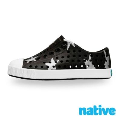 native 小童鞋 JEFFERSON 小奶油頭鞋-瞬黑x銀色星星