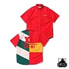 XLARGE S/S PANELED SHIRT短袖襯衫-紅