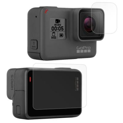 GoPro HERO5 相機鏡頭+觸控螢幕 光學抗刮螢幕保護貼