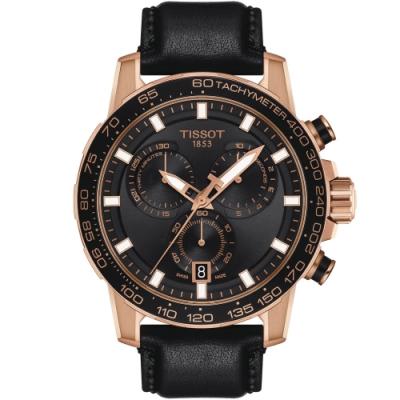TISSOT天梭 SUPERSPORT CHRONO 三眼計時手錶(T1256173605100)-45.5mm