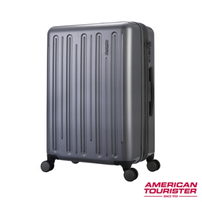 AT美國旅行者 24吋Gorgeous簡約線條防爆拉鍊可擴充TSA行李箱(灰)