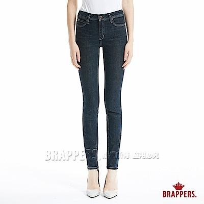 BRAPPERS 女款 新美腳 Roya l系列-中腰彈性窄管褲-深藍