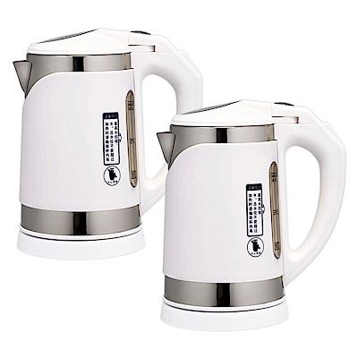 鍋寶1公升304不鏽鋼隔熱快煮壺(超值2入) KT-100-D