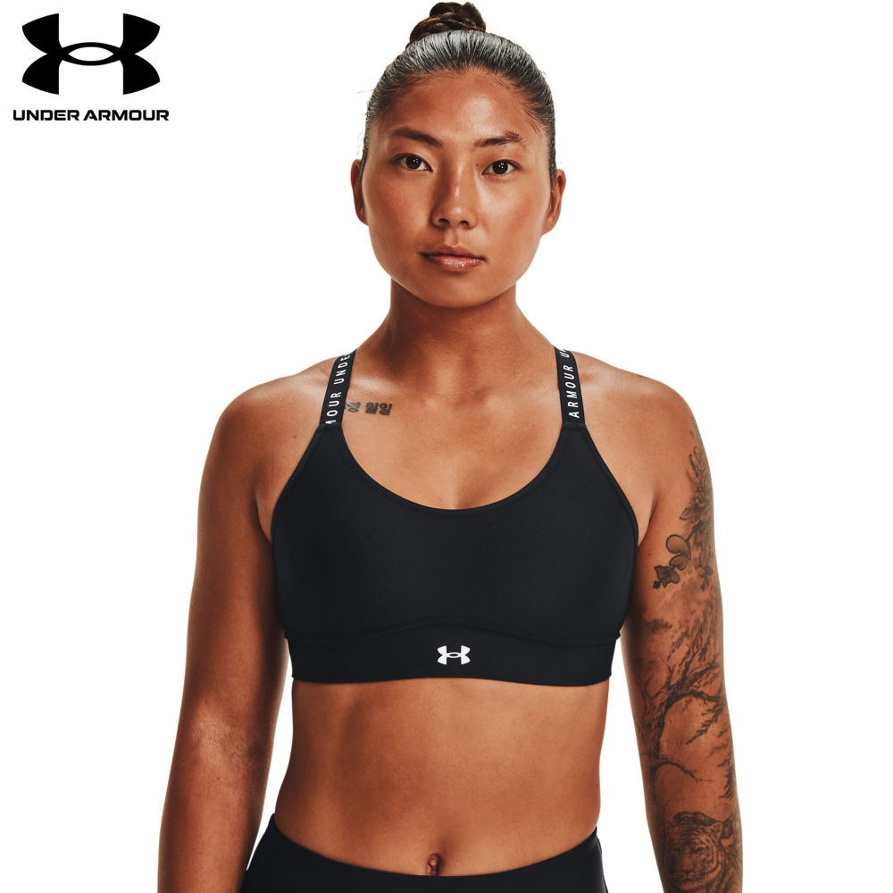 【UNDER ARMOUR】UA 女 Infinity 中衝擊運動內衣,1363353-001