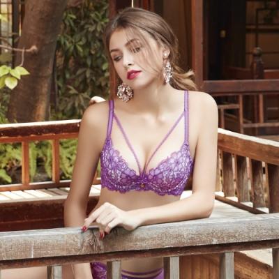 曼黛瑪璉 Marie One 刺繡蕾絲內衣 B-E罩杯 (香莓紫)