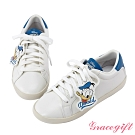 Disney collection by gracegift唐老鴨復古掛飾休閒鞋 藍