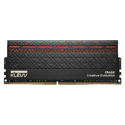 KLEVV 科賦 CRAS II DDR4 3000 8Gx2 桌上型電競記憶體(紅光)