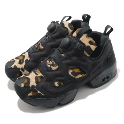 Reebok 休閒鞋 InstaPump Animal P 男女鞋 豹紋 球鞋 穿搭 絨毛 情侶鞋 黑 咖啡  FY4724