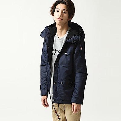 登山外套背心連帽內絨毛8色ZIP日本男裝