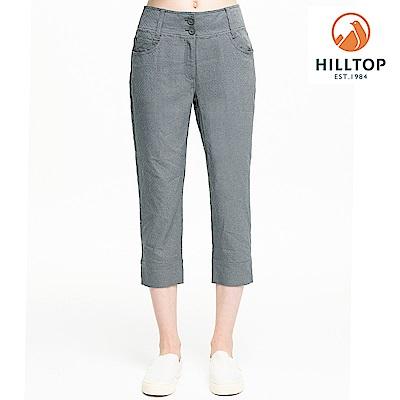 【hilltop山頂鳥】女款超潑水抗UV七分褲S07FH4灰綠