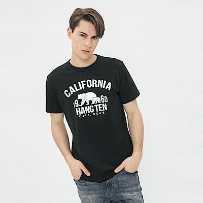 Hang Ten - 男裝 - 加州圖印圓領T恤 - 黑