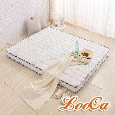 (防蹣防蚊組)LooCa 防蹣防蚊天絲12cm超薄型獨立筒床墊+防蹣防蚊保潔墊(加大)