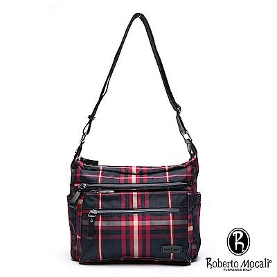 Roberto Mocali - 諾貝兔蘇格蘭配真皮女王風範斜背側背包