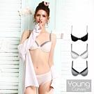 Young Curves 雙色拼接蕾絲內衣-C03-10166B