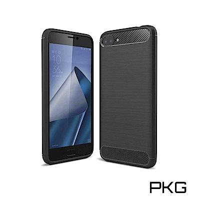 PKG ASUS Zenfone4 MAX ZC554KL 抗震防摔手機殼-碳纖維紋