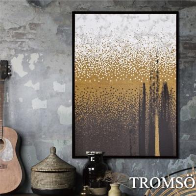 TROMSO 時尚風華抽象有框畫大幅-洗鍊沙金W965