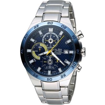 ALBA 雅柏 活力運動型男三眼計時腕錶-(VD57-X080B)AM3339X1