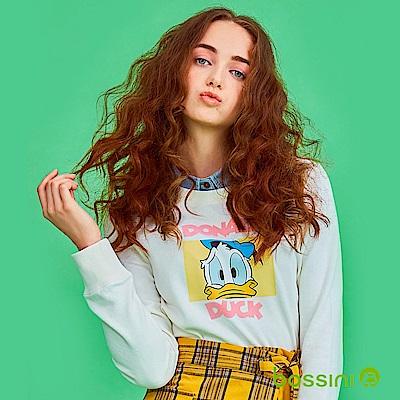 bossini女裝-米奇系列厚棉上衣05乳白