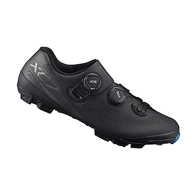 【SHIMANO】XC701 男性登山車越野競賽級車鞋 寬楦 黑色